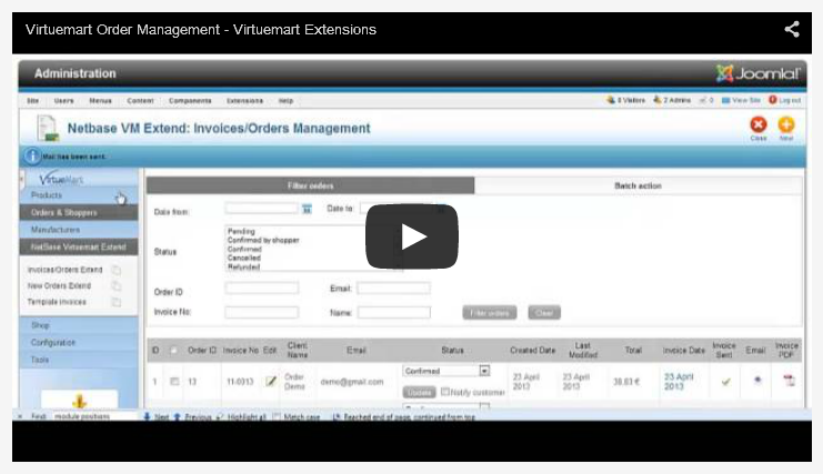 virtuemart invoice management – advancedvirtuemartinvoicesextension, Invoice examples